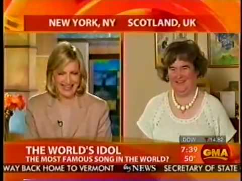 SUSAN BOYLE  interview on GOOD MORNING AMERICA, 16 Apr 2009
