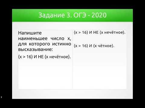Решения демонстрационного варианта ОГЭ 2020 года по информатике. Задание 3