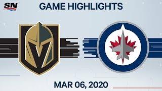 NHL Highlights   Golden Knights vs. Jets – Mar. 6, 2020