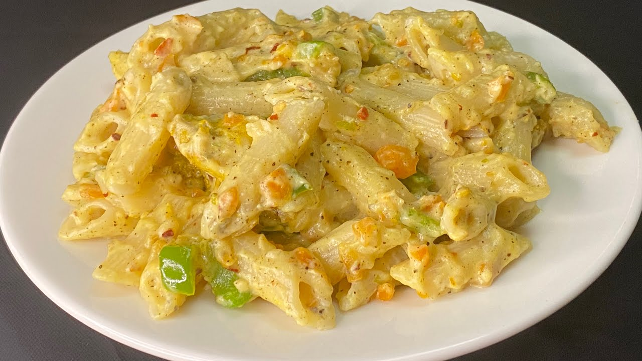 Pasta in White Sauce   White Sauce Pasta  Chicken White Sauce Pasta Recipe Indian Style   Epi:134