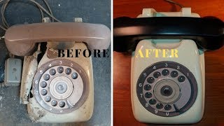 1970 Vintage Rotary Dial Telephone RESTORATION