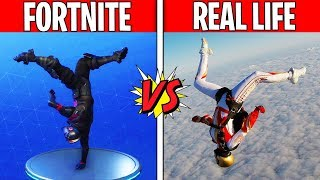 FORTNITE DANCES IN REAL LIFE! Fortnite vs. Real Life