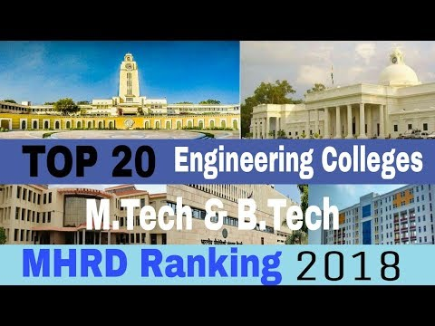 🏆 TOP 20 Engineering Colleges in INDIA 2018 (MHRD Ranking) M.Tech & B.Tech | Best Engg Colleges
