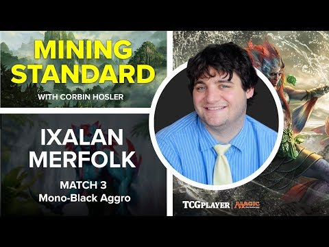 [MTG] Mining Standard - Ixalan Merfolk | Match 3 VS Mono-Black Aggro