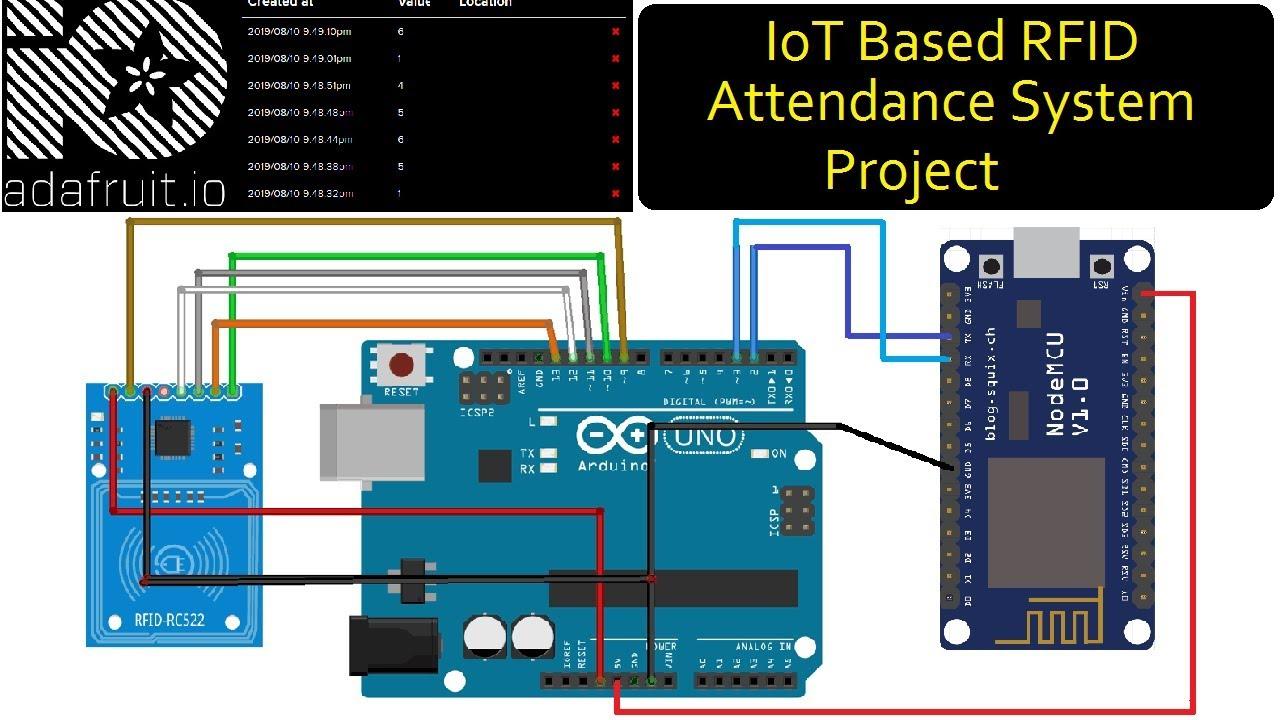 IOT Based RFID Attendance System Using Arduino ESP8266 & MQTT