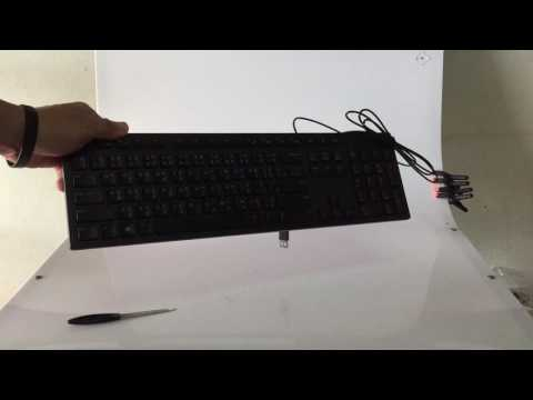 เปิดกล่อง Dell Multimedia Keyboard (Thai) - KB216