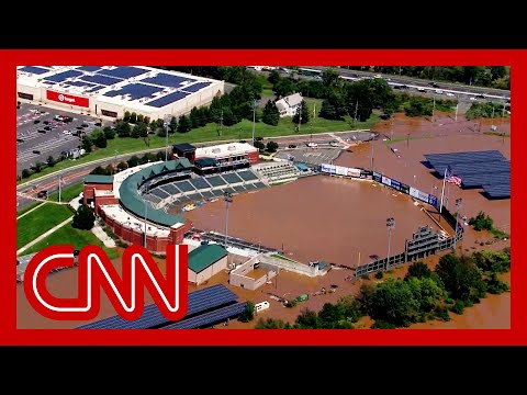 Stunning video shows baseball field partially under water