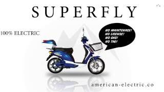 SUPERFLY Electric Bike Scooter 500 Watts Lithium Battery AmericanElectric