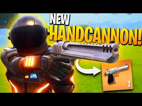*NEW* Crazy Powerful HANDCANNON in Fortnite BR! - NEW Gun first Look - Duos w/ Ali-A!