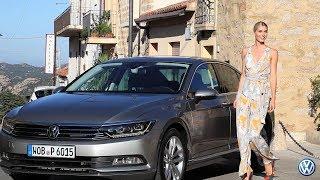 Der neue VW  Passat -Präsentation auf Sardinien mit Lena Gercke und Adrien Brody