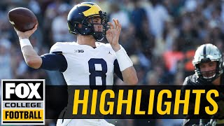 Michigan vs Purdue | Highlights | FOX COLLEGE FOOTBALL