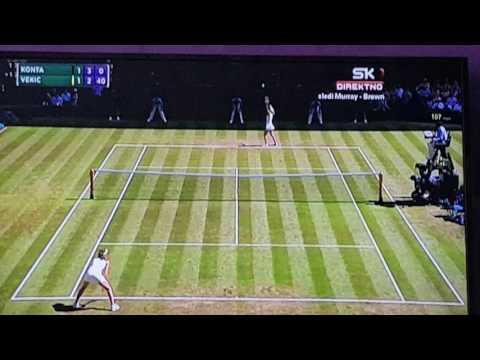 Tenis live johana konta vs dona vekic