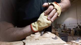 Lion Head Woodcarving