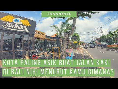 Ubud Bali Asik Buat Jalan Kaki! Sama Trotoar Jakarta Keren Mana!? [ Wisata Bali ]