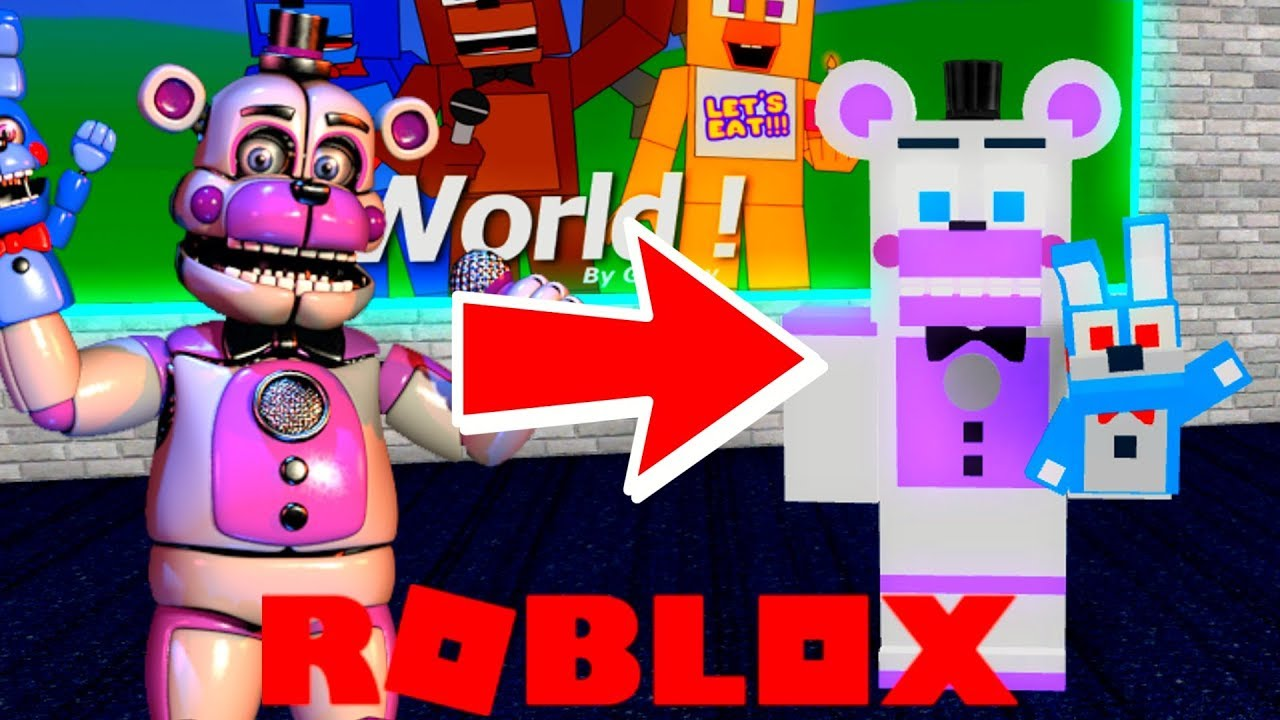Becoming Funtime Freddy In Roblox Roblox Animatronic World Youtube