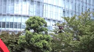 My first encounter with an octocopter drone in Tokyo