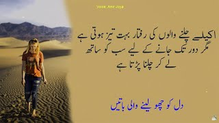 Quotes about life || door tak chalne ke liye sath zrori hay || Most Amazing Quotations About Life