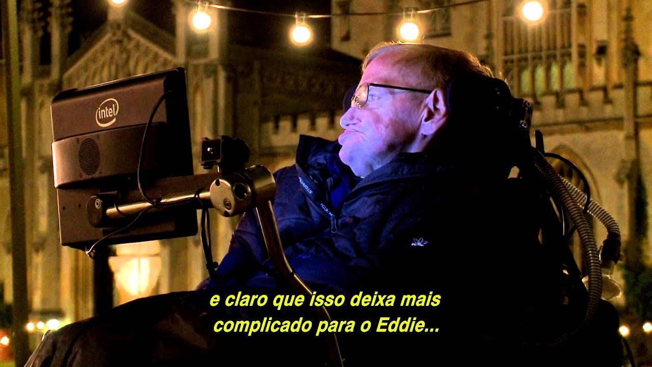 A Teoria De Tudo A Visita Dos Hawkings No Set Youtube