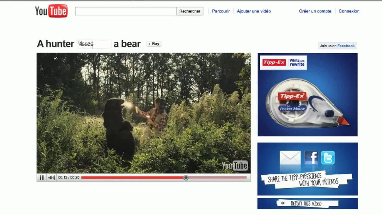 tipp ex hunter shoots a bear case study