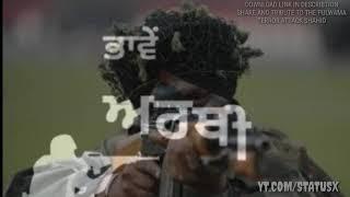 || BODER TE DIWALI || WHATSAPP VIDEO STATUS ||tribute to pulwama terror attack