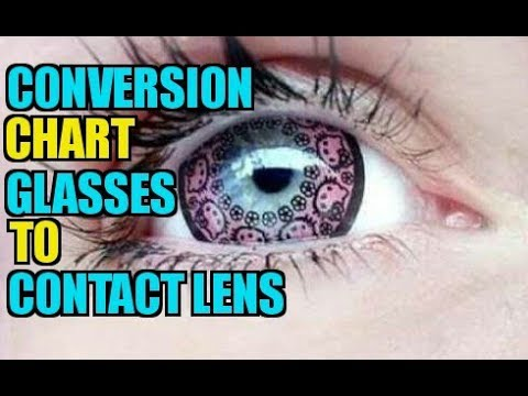 Conversion Chart For Prescription Eyewear To Contact Lens