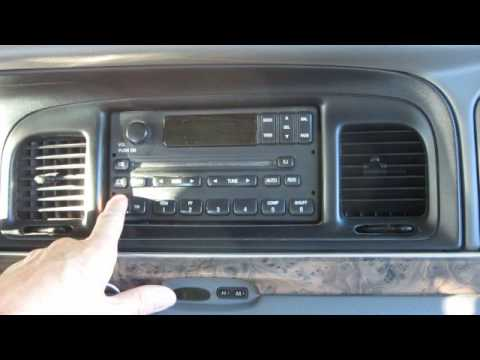 98 02 Lincoln Town Car And Navigator Radio Removal