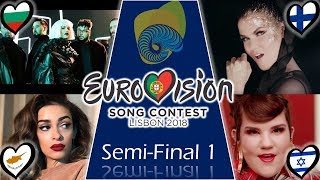 Eurovision 2018 Semi Final 1 My top 19 With comments!