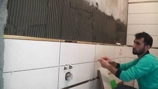 Fayans ustası 'dan hızlandırılmış banyo fayans döşemesi