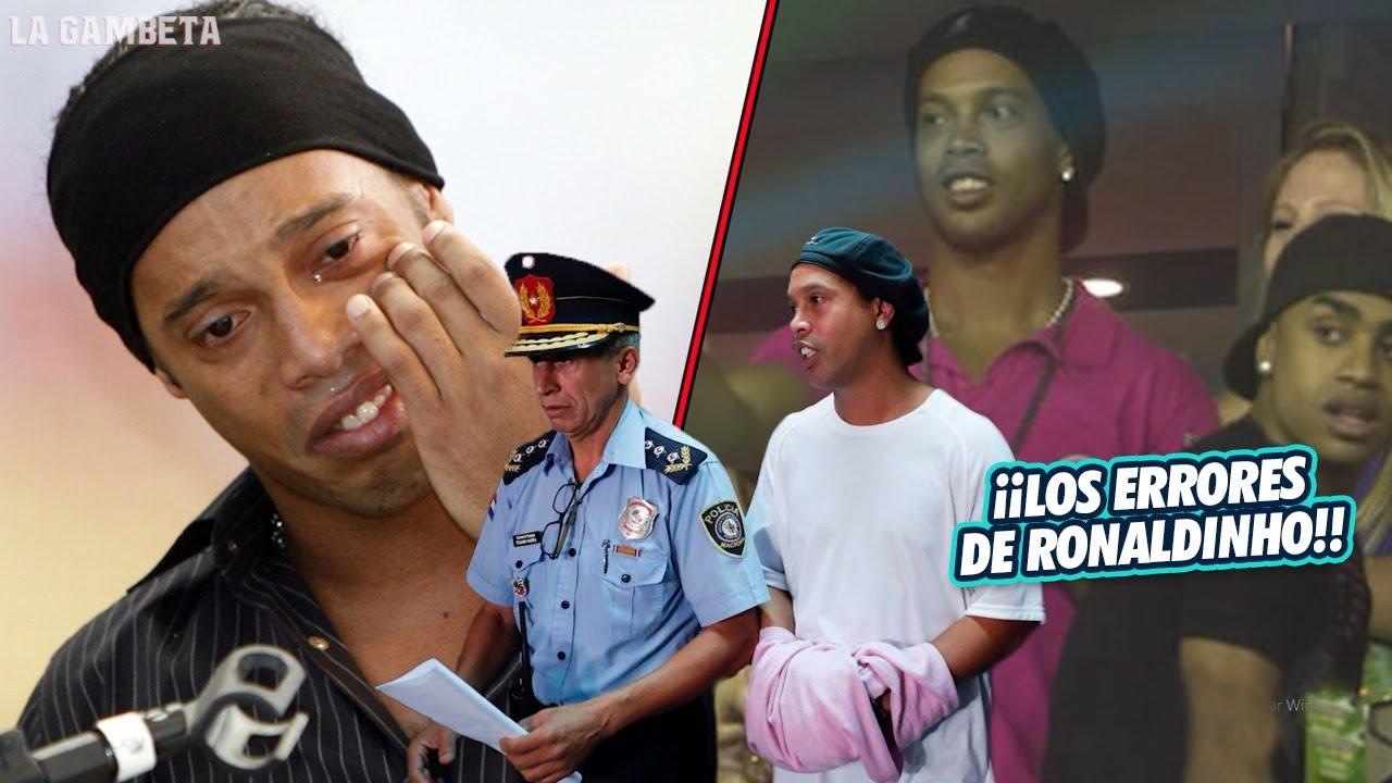 Los 4 PEORES ERRORES de Ronaldinho en su VIDA que están ACABANDO su legado