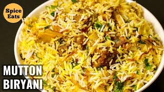 MUTTON BIRYANI | QUICK MUTTON BIRYANI RECIPE | PRESSURE COOKER MUTTON BIRYANI