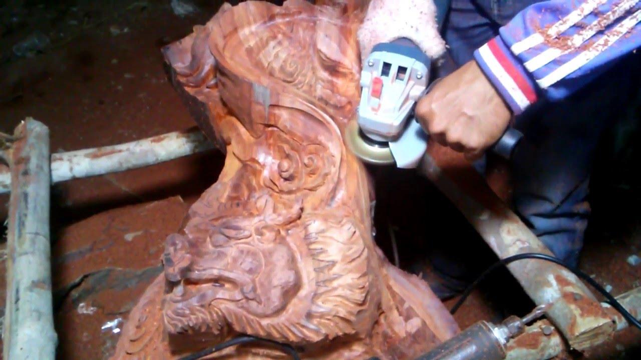 Top nice dragon carving wood using with motor bosh