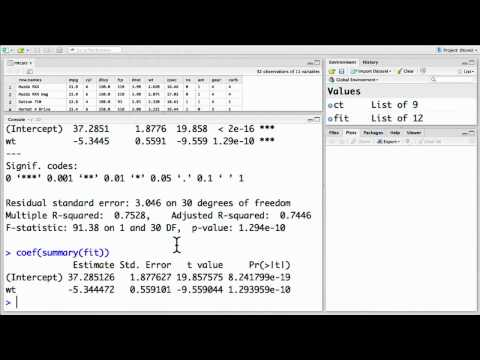 3.3 Linear Regression (Statistical Testing and Prediction)