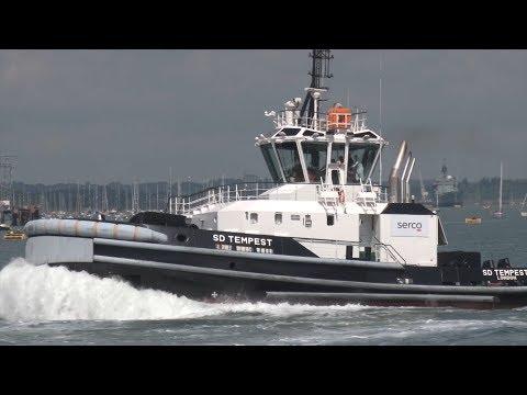HMS Queen Elizabeth's Super Tug Officially Named