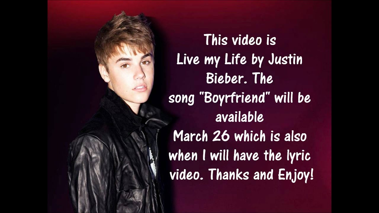 Justin Bieber- Boyfriend Lyrics [NEW SONG 2012] - YouTube