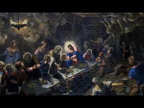 tintoretto last supper compared to da vinci