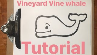 How to Draw Vineyard Vine Whale (easy step by step)