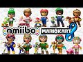 Mario Kart 8: Amiibo Mii Costumes Unlock! Link, Kirby, Samus 60fps Gameplay Walkthrough Wii U HD
