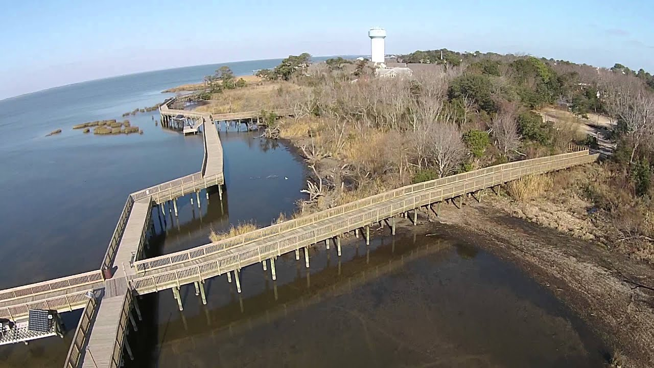 Town of duck nc boardwalk dji phantom 2 vision plus for Fishing in duck nc