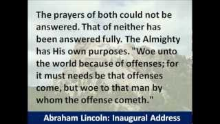 President Abraham Lincoln Second Inaugural Address - Hear and Read the Full Text