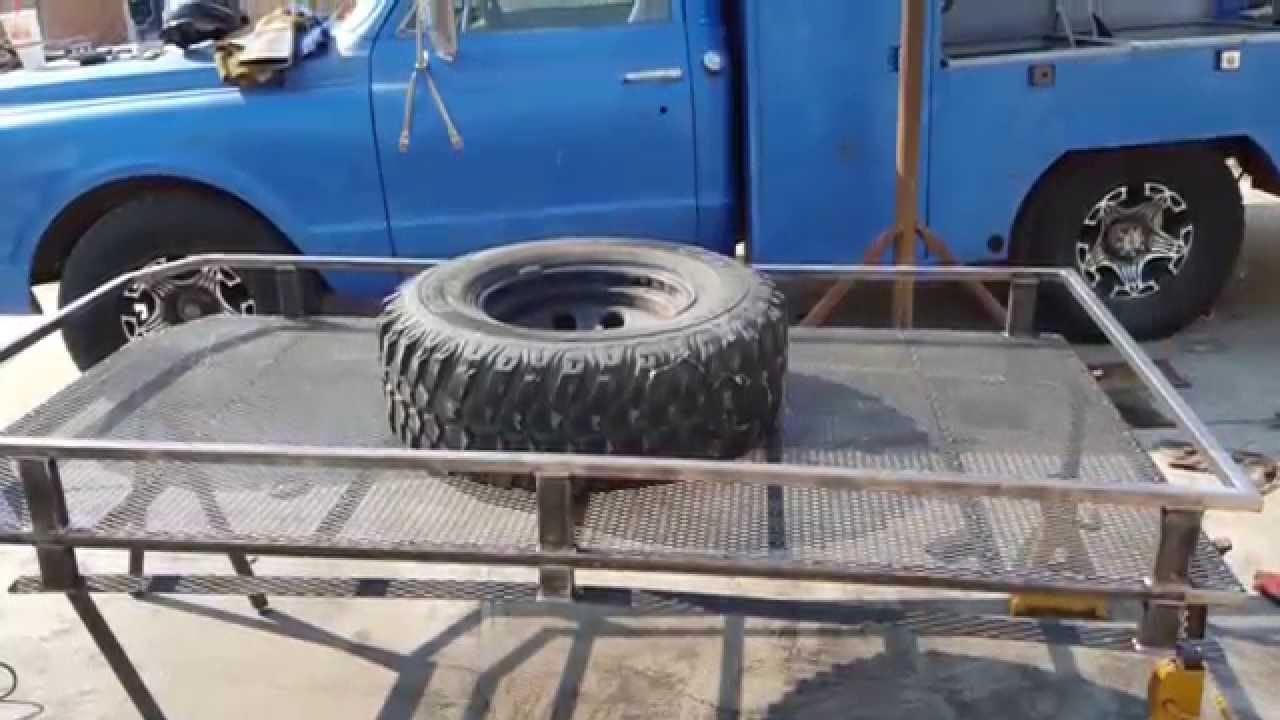 Wj Custom Safari Rack Amp Tire Carrier Youtube