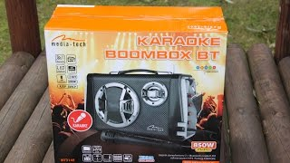 Unboxing i test Media-Tech Karaoke BOOMBOX BT MT3149