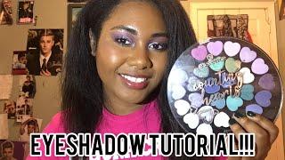 Purple Cut Crease Eyeshadow Tutorial (Essence Counting Hearts Palette)