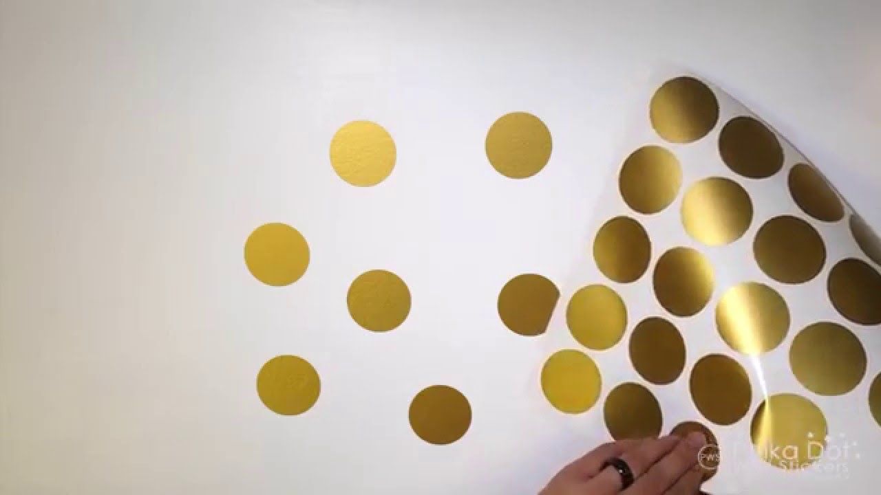 Peel And Stick Polka Dot Wall Decals Youtube