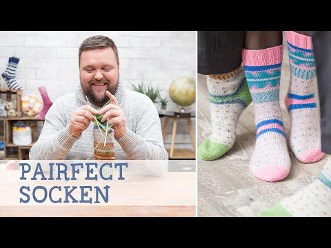 Stricke Pairfect-Socken: zwei perfekt gemusterte Socken