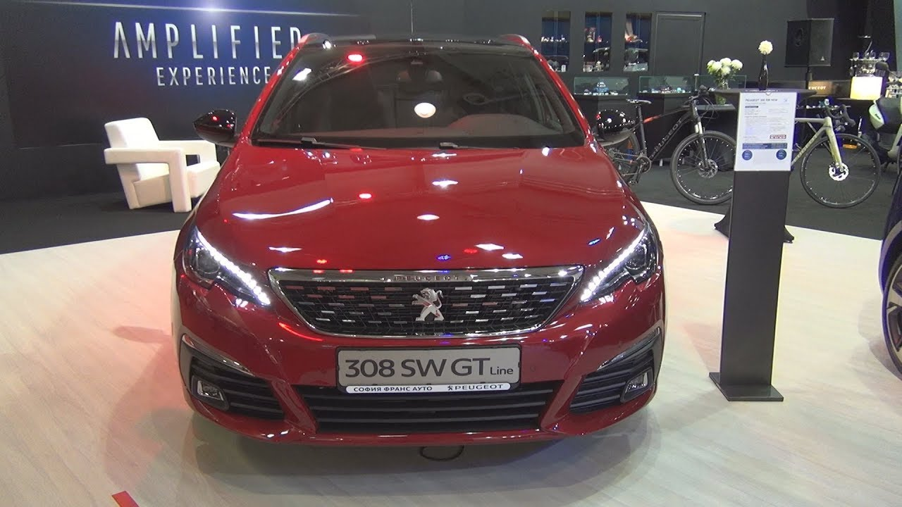 peugeot 308 sw gt line 1 6 e hdi 120 eat6 euro6 2018 exterior and interior youtube. Black Bedroom Furniture Sets. Home Design Ideas