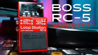 BOSS RC-5 Loop Station Review! The BEST Loop Pedal for Beginners!?