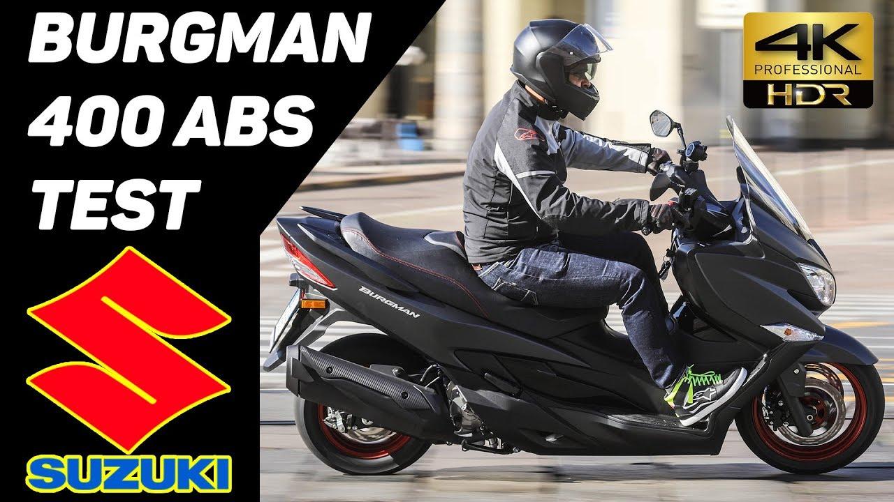 new 2017 suzuki burgman 400 abs scooter test 4k youtube. Black Bedroom Furniture Sets. Home Design Ideas