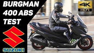 New 2017 SUZUKI Burgman 400 ABS Scooter TEST 4K