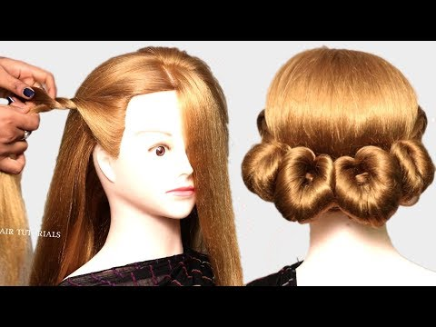 2 Easy Bun Hairstyles with Trick for Wedding & party | prom Updo Hairstyle