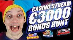 LIVE CASINO STREAM, €3000 BONUS HUNT | BONUS BUYS ONLINE SLOTS with mrBigSpin